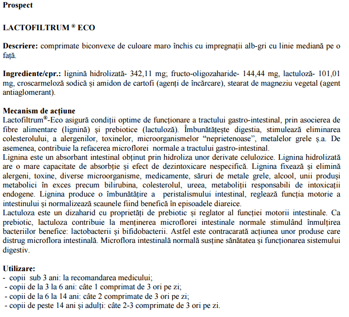 Lactofiltrum, 60 comprimate, Avva Rus