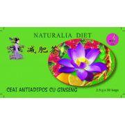 Ceai Antiadipos cu Ginseng 30 doze Naturalia Diet