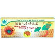 Ginkgo Biloba, Ginseng si Royal Jelly, 10 fiole, Yongkang
