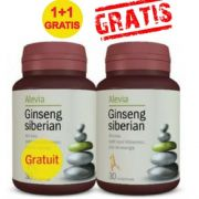 Ginseng Siberian, 30 comprimate, Alevia (1+1 GRATIS)