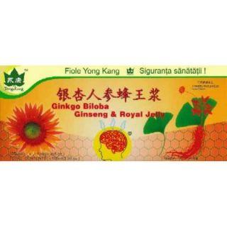 Yong kang ginkgo biloba, ginseng, royal jelly 10fiole